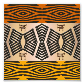 ethnic african tribal pattern photo print