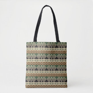 ethnic african tribal pattern tote bag