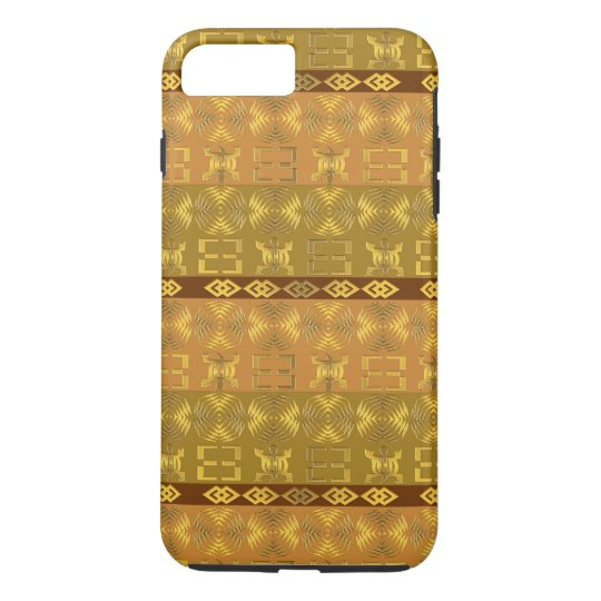 ethnic african tribal pattern with Adinkra simbols iPhone 7 Plus Case