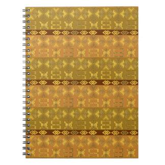 ethnic african tribal pattern with Adinkra simbols Notebook