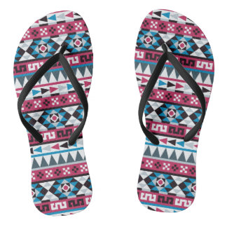 Ethnic Aztec Geometric Pattern Thongs