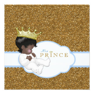 Ethnic Baby Boy Shower Personalized Announcements