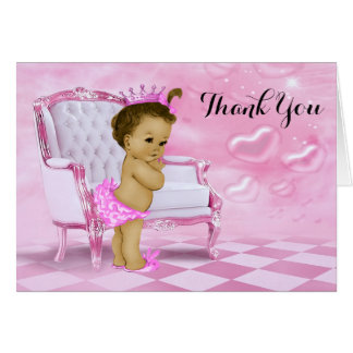 Ethnic Baby Girl Shower Thank You Card