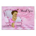 Ethnic Baby Girl Shower Thank You Note Card