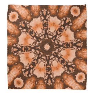 Ethnic Bohemian Mandala brown orange tiedye Trippy Bandana