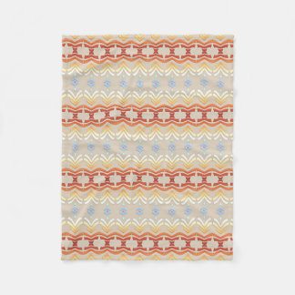 Ethnic bohemian style geometric pattern fleece blanket