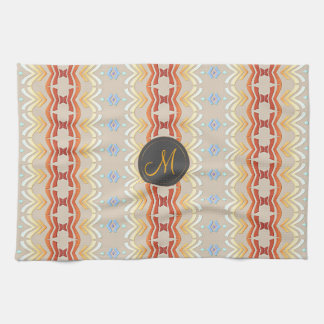 Ethnic bohemian style geometric pattern. tea towel
