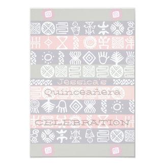 Ethnic Boho-chic Quinceañera Celebration - 9 Cm X 13 Cm Invitation Card