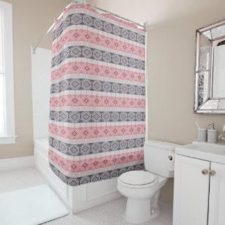 Ethnic boho style striped pattern. shower curtain