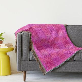 Ethnic Chevron Damask, Purple and Fuchsia Pink Throw Blanket