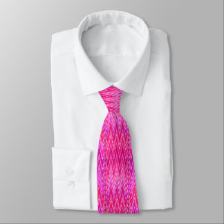 Ethnic Chevron Damask, Purple and Fuchsia Pink Tie