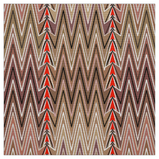 Ethnic Chevron Damask, Taupe Tan and Beige Fabric