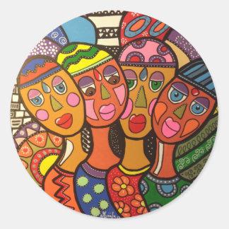 ethnic classic round sticker