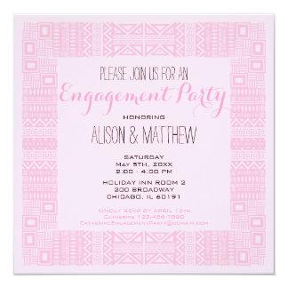Ethnic Design Custom Engagement Party #2 13 Cm X 13 Cm Square Invitation Card