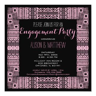 Ethnic Design Custom Engagement Party #3 13 Cm X 13 Cm Square Invitation Card