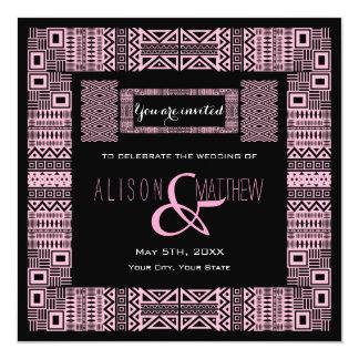 Ethnic Design Custom Wedding Invitation #3