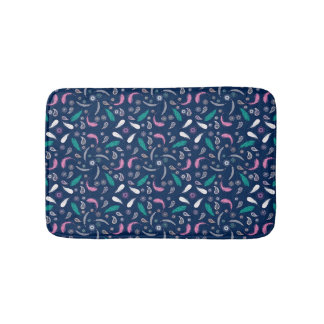 ethnic feathers bohemian pattern bath mat