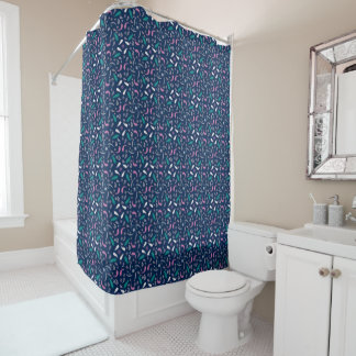 ethnic feathers bohemian pattern shower curtain