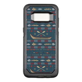 Ethnic Fishing Pattern OtterBox Commuter Samsung Galaxy S8 Case
