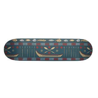 Ethnic Fishing Pattern Skate Deck