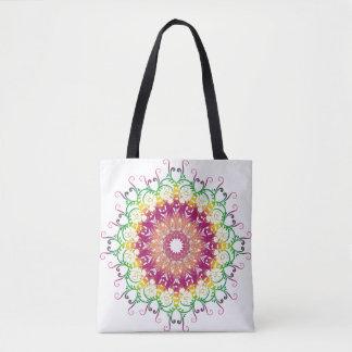 Ethnic florac multicolor mandala. tote bag
