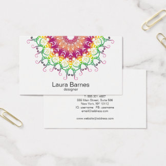 Ethnic floral mandala. business card