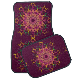 Ethnic floral mandala. car mat