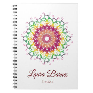 Ethnic floral mandala. notebooks
