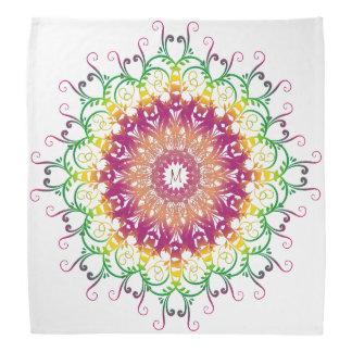 Ethnic floral multicilor monogram. bandana