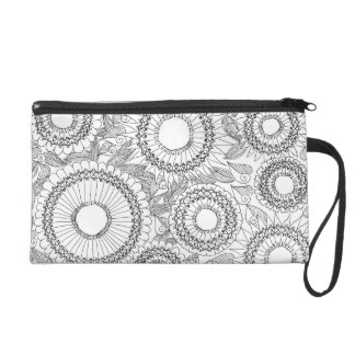 Ethnic Floral patterns Wristlet