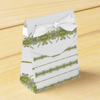 Ethnic Floral Stripes Favour Box