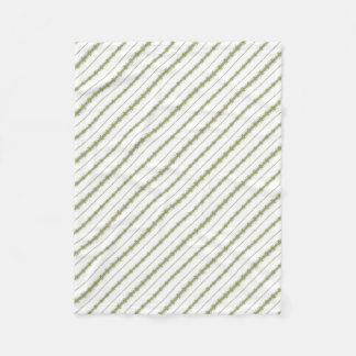 Ethnic Floral Stripes Fleece Blanket