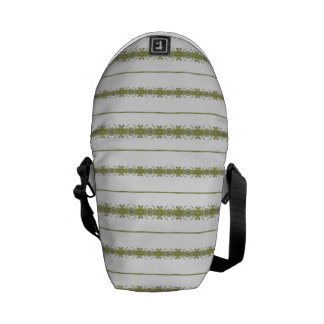 Ethnic Floral Stripes Messenger Bag