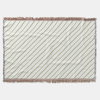 Ethnic Floral Stripes Throw Blanket