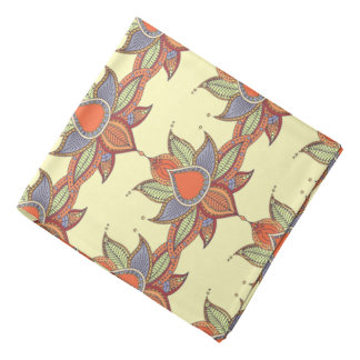 Ethnic flower lotus mandala ornament bandana