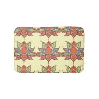 Ethnic flower lotus mandala ornament bath mat