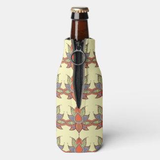 Ethnic flower lotus mandala ornament bottle cooler
