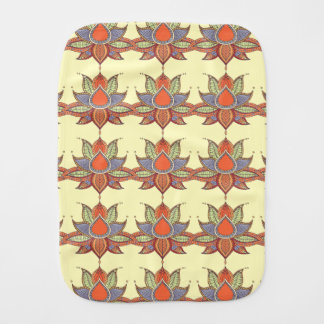 Ethnic flower lotus mandala ornament burp cloth