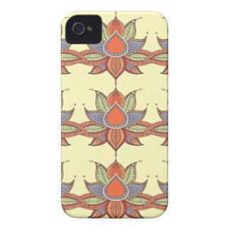Ethnic flower lotus mandala ornament Case-Mate iPhone 4 case