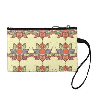 Ethnic flower lotus mandala ornament coin purse