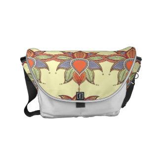 Ethnic flower lotus mandala ornament commuter bag