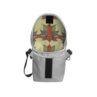 Ethnic flower lotus mandala ornament commuter bags