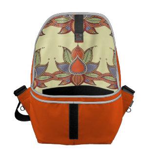 Ethnic flower lotus mandala ornament courier bag