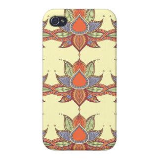 Ethnic flower lotus mandala ornament covers for iPhone 4