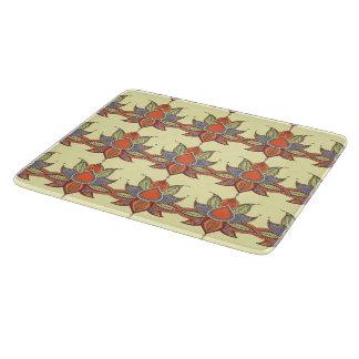 Ethnic flower lotus mandala ornament cutting board