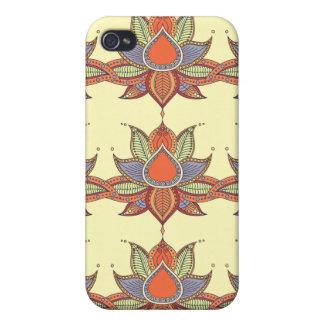 Ethnic flower lotus mandala ornament iPhone 4/4S case