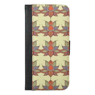 Ethnic flower lotus mandala ornament iPhone 6/6s plus wallet case
