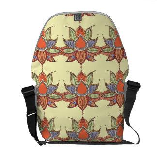 Ethnic flower lotus mandala ornament messenger bag