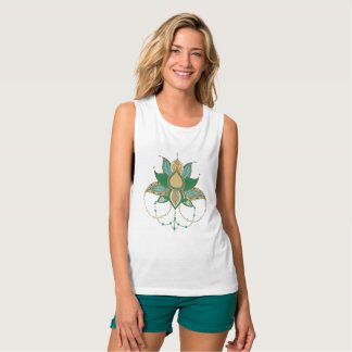 Ethnic flower lotus mandala ornament singlet