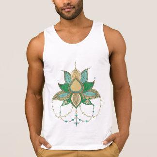 Ethnic flower lotus mandala ornament singlet